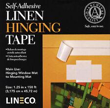 "Self Adhesive Linen Hinging Tape 1.25""X150'  Lineco #L533-1055  (Bin 2134-WL)"