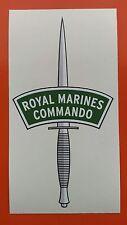 "Royal marines commando dagger vinyle autocollant 6"" 7-10 an vinyle"