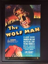 Lon Chaney , the Wolf Man - 12 inch Universal Monsters Sideshow toys - neuf