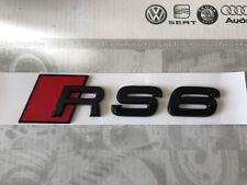 Audi RS6 Rear Boot Trunk Badge Emblem Logo Gloss Black