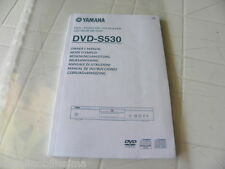 Yamaha DVD-S530 Owner's Manual  Operating Instruction   New