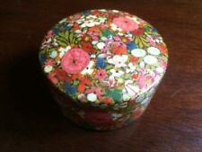 Floral Design Hand Painted Circular Box