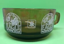 VINTAGE Anhueser Busch Eagle Snacks Amber Brown Glass Bowl Cup Anchor Hocking