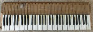 ANTIQUE ARCHITECTURAL SALVAGE RECLAIMED 1890'S PUMP ORGAN KEYBOARD
