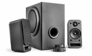 Wavemaster MX3+ 2.1 Lautsprecher-System HiFi Soundsystem 50W Stereoanlage TV PC