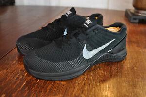 Nike Metcon DSX Flyknit 852930-004 Triple Black Running / Trainers 42 Men 8.5 M