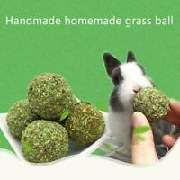 Pet Grass Ball Hamster Kaninchen kauen Spielzeug Calendula Aromen Molaren S S0O8