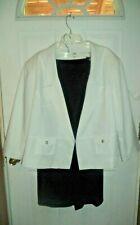 Women's CATO WOMAN 2 Pc Set Black Skirt White Jacket Size 26/28W REALLY NICE!