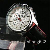 43mm PAGANI DESIGN white dial date functional chronograph Quartz mens watch N071