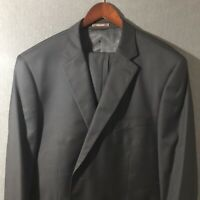 PETER MILLAR 100% Wool 2 Button Single Breasted Double Vent Black Suit Size 46R