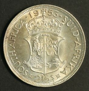South Africa 1/2 Crown 1953 Choice Uncirculated