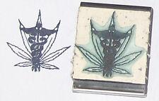 Medical Marijuana Pot Cannabis Leaf rubber stamp