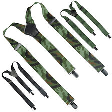 Mil-Tec Mens Trouser Military Army Police Security Braces Suspenders with Clips