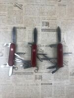 RARE 3 Lot Swiss Army Knifes 2 Wenger Delemont 1 Officer Suisse