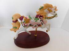 Lenox 1996 Le Annual Christmas Carousel Horse Doves Harp French Horn 24K Retired