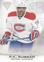 2011-12 Panini Titanium Hockey #76 P.K. Subban Montreal Canadiens