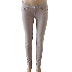 New Women's Corduroy Jeans Pants Stretch Skinny Fit Grey Size 6 8 10 12 14 16