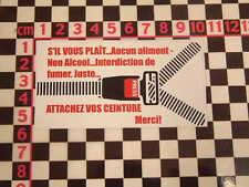 Français Ceinture de sécurité autocollant - CITROEN 2CV AUTO CLASSIQUE VOITURE