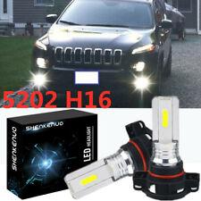2X 5202 H16 LED Bulbs Fog Lamp DRL Driving Lights 6000K White Light High Power
