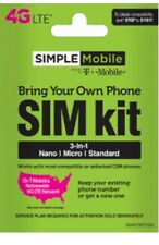 Simple Mobile 3 in 1 - Sim Card with First Month Included : $ 40 Plan …