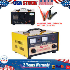 Automotive Battery Charger Metal 12V/24V Smart Fast Lead-acid Battery Maintainer