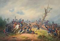 Joh. HEINEFETTER (1815-1902), Napoleonische Schlachtenszene, 1850, Aquarell