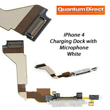 NEW iPhone 4 Replacement Charging Dock/Port Assembly + Microphone - WHITE
