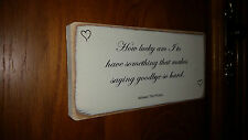 Shabby Chic Winnie The Pooh Quote Sign. Wedding Gift Plaque. Solid Wood. #9