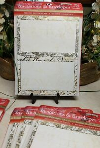 JeanMarie Creations Print 40 Holiday Invitations & Envelopes Foil Accent Elegant