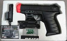 Paifa P.0621+AB Airsoft Pistol 6mm BB w. Laser Sight & Tactical Flashlight NEW