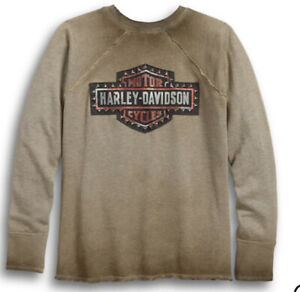 Harley Davidson Sweatshirt Raglan Pullover Studded HD Motorcycles Women M NWT