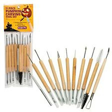 Pumpkin Sculpting Carving Tools Set 11 Pcs Double Sided Pieces 21 Halloween Kit