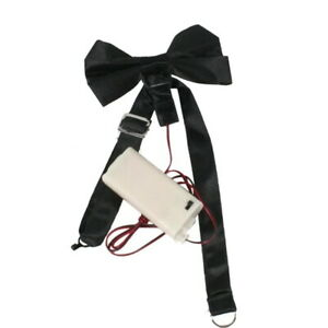 Spinning Bow Tie Remote Control Spin Funny Gag Halloween Black Clown Costume