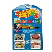 Hot Wheels Micro Color Racers # 3229 Classic Pack 4 Pack Cars Mattel 1988