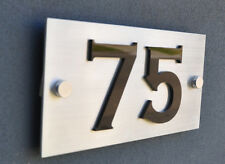 Stainless Steel Custom Made House Number Sign Laser Cut Marine Grade Plaque Sign