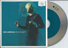 KATE ANDERSON - come and get it CD SINGLE 4TR Eurodance Europop 1999 SWEDEN