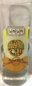 "Hard Rock Cafe ATLANTIC City 2006 City Tee Shirt 4"" SHOT GLASS Cordial GLASSWARE"