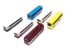 1 set 6 pcs  N Scale 1:160 Diecast Bus Car Model Train Layout Set Track