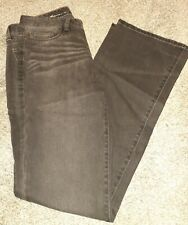 New Eddie Bauer Women's Size 8 Tall Classic Dark Wash Bootcut Jeans Denim Black