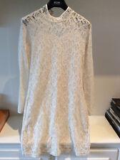 DESIRE Cream Lace Long Sleeves Mini Dress Small uk10 £60