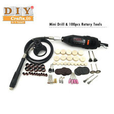 DIY Crafts® Electric Power Tools Drill Dremel Rotary Tool + 100 Pcs Accessoriesh