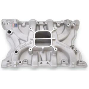 Edelbrock Intake Manifold 2171; Performer Satin Aluminum for Ford 351C, 351M/400