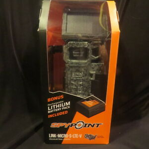 SPYPOINT 2020 LINK-MICRO-S-LTE-V Solar Cellular Trail Camera with lithium batter