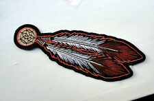 P3b Native American Biker Iron on Patch Feathers Cowboy Motorcycle Indian Tribal