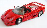 Coche miniatura metal Ferrari F50 escala 1/24 de Maisto. Made in Thailand