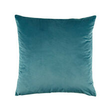 Bianca Vivid Teal Velvet Square Filled Cushion 43cm x 43cm