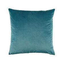 Bianca Vivid Teal Velvet Square Filled Cushion 43cm x 43cm RRP39.95