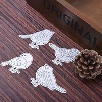 4stk Vögel Set Stencil Cutting Dies Scrapbooking Karte Tagebuch Stanzschablone