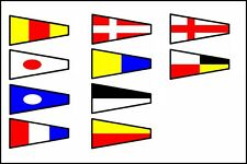 Naval Signal Flags / Flag SET- Set of 14 flag - Marine Code - Marine / Nautical