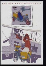 Germany**STAMPDAY 1997-HISTORIC POST PLANE/CAR-SHEET-POSTPRICE-POSTPRIJS-fACIALE